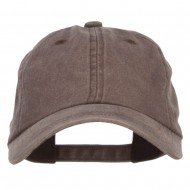 Unstructured Pigment Dyed Cotton Cap - Brown