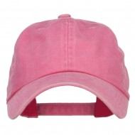 Unstructured Pigment Dyed Cotton Cap - Pink
