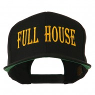 Gaming Full House Embroidered Flat Bill Cap - Black