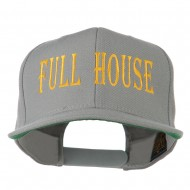 Gaming Full House Embroidered Flat Bill Cap - Silver