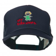 My Grandma Embroidered Youth Foam Mesh Cap - Navy