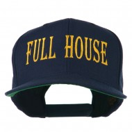 Gaming Full House Embroidered Flat Bill Cap - Navy