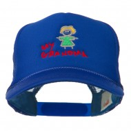My Grandma Embroidered Youth Foam Mesh Cap - Royal
