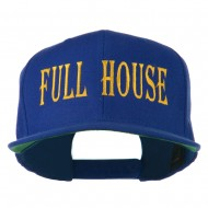 Gaming Full House Embroidered Flat Bill Cap - Royal