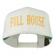 Gaming Full House Embroidered Flat Bill Cap - Natural