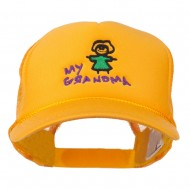 My Grandma Embroidered Youth Foam Mesh Cap - Gold