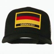 Germany Flag Patched Mesh Cap - Black