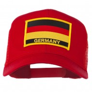 Germany Flag Patched Mesh Cap - Red