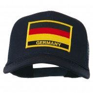 Germany Flag Patched Mesh Cap - Navy