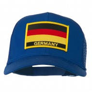 Germany Flag Patched Mesh Cap - Royal