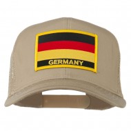 Germany Flag Patched Mesh Cap - Khaki