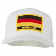 Germany Flag Patched Mesh Cap - White