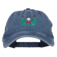 Golf Club Ball Crest Embroidered Washed Cap - Navy