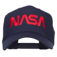 NASA Logo Font Embroidered Cap - Navy