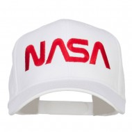 NASA Logo Font Embroidered Cap - White