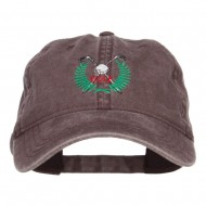 Golf Club Ball Crest Embroidered Washed Cap - Brown