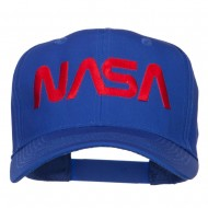 NASA Logo Font Embroidered Cap - Royal