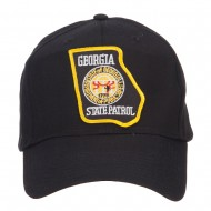 Georgia State Patrol Patched Cap - Black