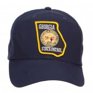 Georgia State Patrol Patched Cap - Navy