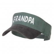 Grandpa Embroidered Washed Dyed Visor - Black Green