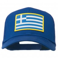 Greece Flag Patched Mesh Cap - Royal