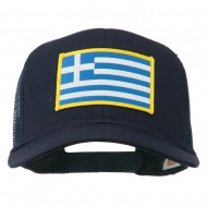 Greece Flag Patched Mesh Cap - Navy