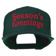 Seasons Greetings Embroidered Snapback Cap - Spruce