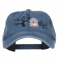 Graveyard Embroidered Washed Cap - Navy