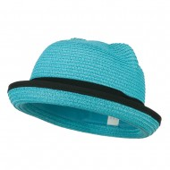 Girl's Youth Ear Crown Fedora - Turquoise