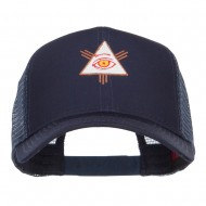 All Seeing Eye Embroidered Mesh Cap - Navy