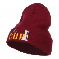 Hockey The Cup Embroidered Long Beanie - Maroon