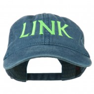 Halloween Character Link Embroidered Washed Dyed Cap - Navy