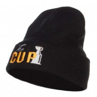 Hockey The Cup Embroidered Long Beanie - Black