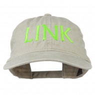 Halloween Character Link Embroidered Washed Dyed Cap - Stone