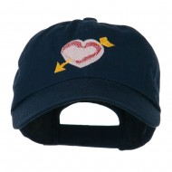 Image of Heart Arrow Embroidered Cap - Navy