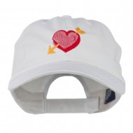Image of Heart Arrow Embroidered Cap - White