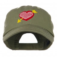 Image of Heart Arrow Embroidered Cap - Olive