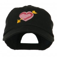 Image of Heart Arrow Embroidered Cap - Black