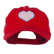 Heart with Outline Embroidered Cap - Red
