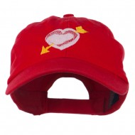 Image of Heart Arrow Embroidered Cap - Red