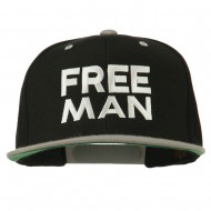 Halloween Freeman Embroidered Snapback Cap - Black Silver