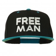 Halloween Freeman Embroidered Snapback Cap - Black Teal