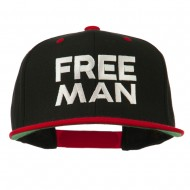 Halloween Freeman Embroidered Snapback Cap - Black Red