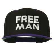 Halloween Freeman Embroidered Snapback Cap - Black Purple