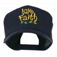 Wording of Have Faith Embroidered Cap - Navy