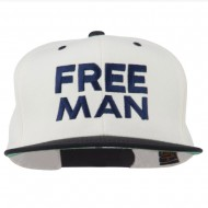 Halloween Freeman Embroidered Snapback Cap - Natural Black