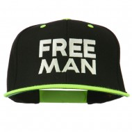Halloween Freeman Embroidered Snapback Cap - Neon Yellow