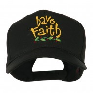 Wording of Have Faith Embroidered Cap - Black