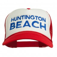 Huntington Beach Embroidered Foam Mesh Back Cap - Red White Red