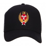 Air Force 9th Command Embroidered Mesh Cap - Black